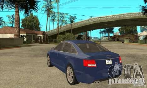 Audi S6 Limousine V1.1 для GTA San Andreas вид сзади слева