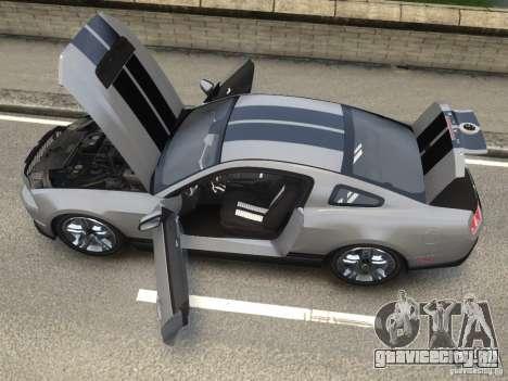 Shelby GT500 2010 для GTA 4 вид сзади слева