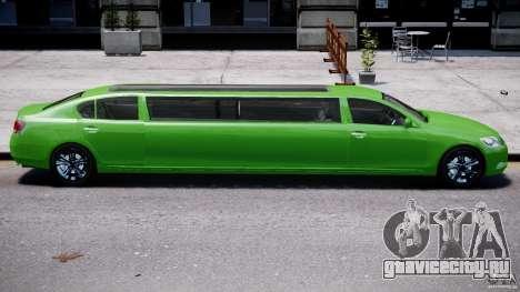 Lexus GS450 2006 Limousine для GTA 4 двигатель