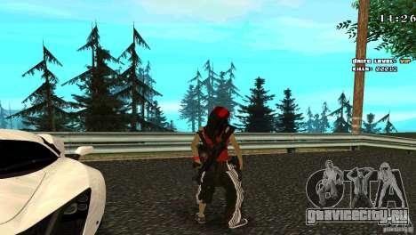 Chicano Chick Skin для GTA San Andreas третий скриншот