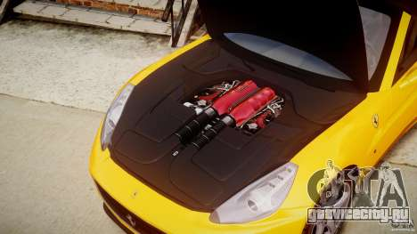 Ferrari California v1.0 для GTA 4 вид изнутри