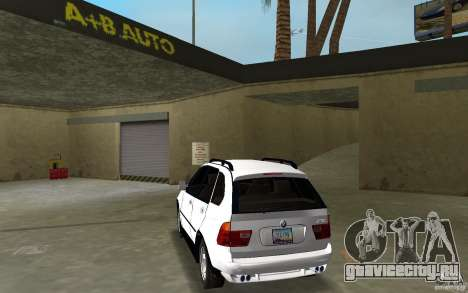 BMW X5 для GTA Vice City вид сзади слева