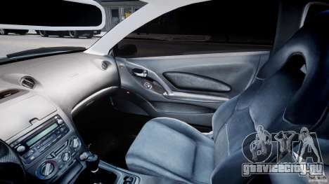Toyota Celica Tuned 2001 v1.0 для GTA 4 вид изнутри