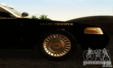 Ford Crown Victoria Wyoming Police для GTA San Andreas вид справа