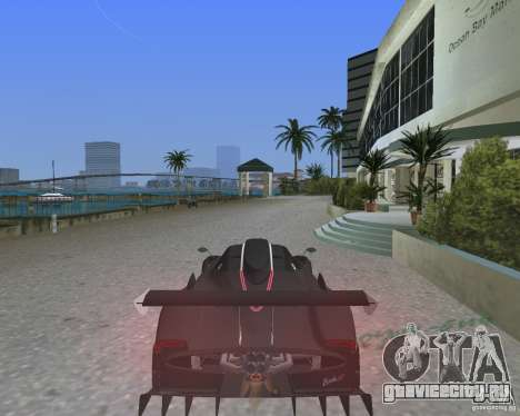 Pagani Zonda R для GTA Vice City вид слева