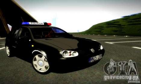 Volkswagen Golf Police для GTA San Andreas