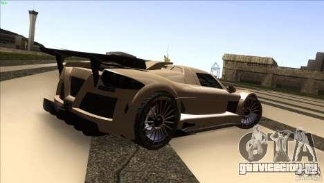 Gumpert Apollo для GTA San Andreas вид изнутри