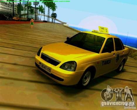 ВАЗ 2170 Priora Baki taksi для GTA San Andreas вид слева