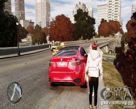 BMW X6M Lumma для GTA 4 вид изнутри