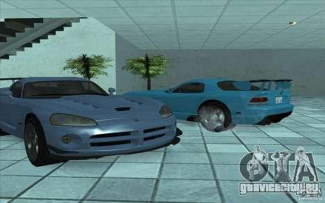 Dodge Viper SRT10 ACR для GTA San Andreas вид сзади слева