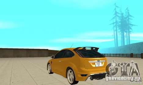 Ford Focus RS для GTA San Andreas вид сзади слева