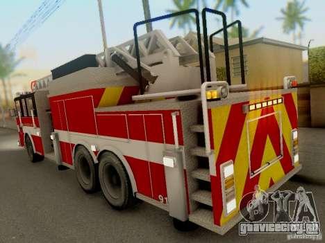 Pierce Firetruck Ladder SA Fire Department для GTA San Andreas вид справа