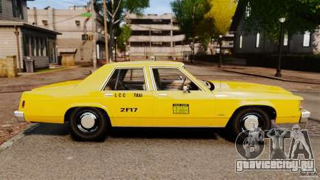 Ford LTD Crown Victoria 1987 L.C.C. Taxi для GTA 4 вид слева