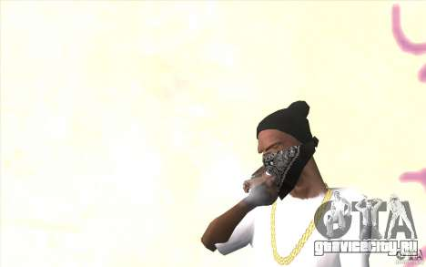 Перчатки без пальцев v2 для GTA San Andreas второй скриншот