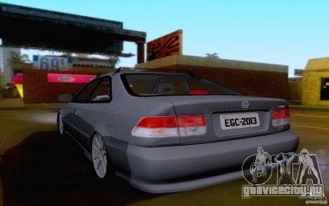 Honda Civic 1999 для GTA San Andreas вид сзади слева