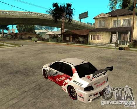 Lancer Evolution VIII япошка для GTA San Andreas вид слева