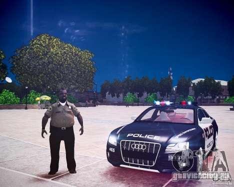 Audi S5 Police для GTA 4 вид сзади