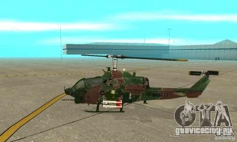 AH-1 super cobra для GTA San Andreas вид сзади слева