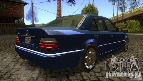 Mersedes-Benz E500 для GTA San Andreas вид изнутри