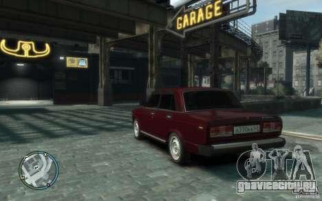 ВАЗ 2107 для GTA 4 вид слева