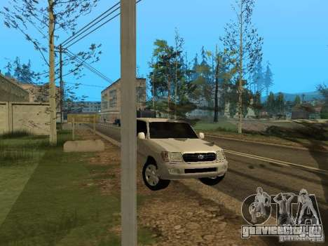 Toyota Land Cruiser 100 VX для GTA San Andreas вид сзади
