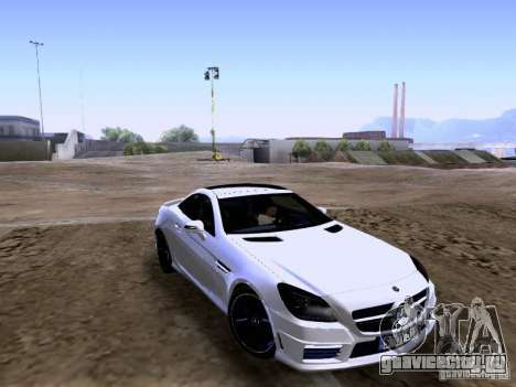 Mercedes-Benz SLK55 AMG 2012 для GTA San Andreas вид слева
