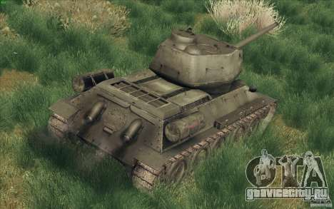 Т-34-85 из игры COD World at War для GTA San Andreas вид сзади слева