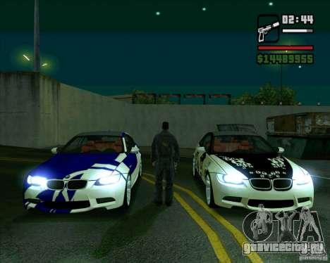BMW M3 (E92) 2007 для GTA San Andreas вид справа