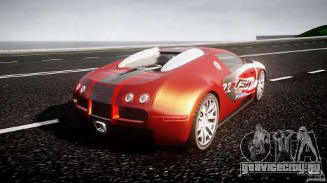 Bugatti Veyron 16.4 v1 для GTA 4 вид сзади слева