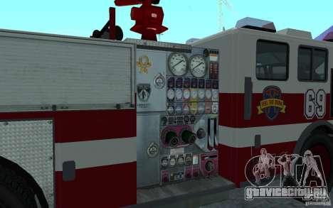 FIRETRUCK для GTA San Andreas вид сзади слева