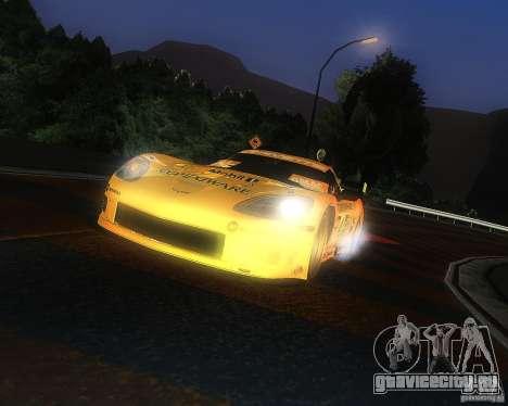 Chevrolet Corvette Drift для GTA San Andreas вид сзади слева