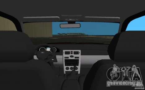 Lada 2170 Priora для GTA Vice City вид сверху