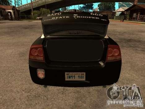 Dodge Charger RT Police для GTA San Andreas вид сбоку