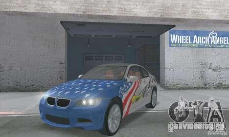 BMW M3 E92 Stock для GTA San Andreas вид сбоку