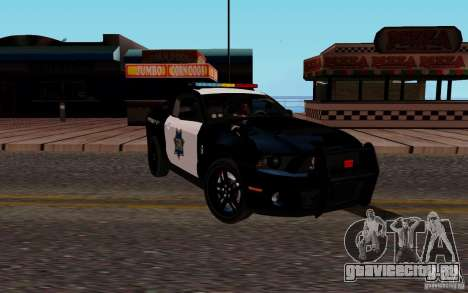 Ford Shelby Mustang GT500 Civilians Cop Cars для GTA San Andreas