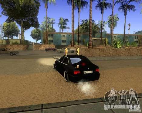 BMW 525i e39 для GTA San Andreas вид сзади слева