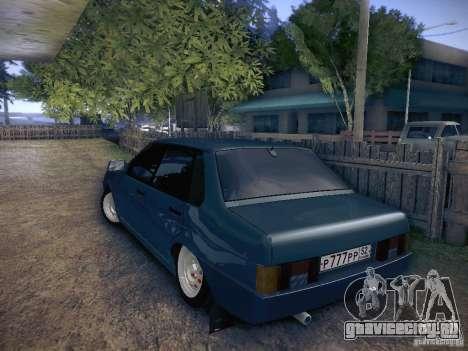 VAZ 21099 для GTA San Andreas вид сзади слева