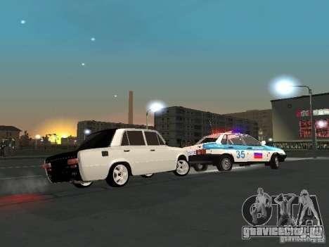 Ваз 2101 White Kids для GTA San Andreas вид сбоку