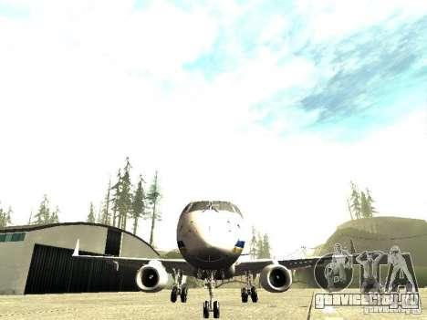 Embraer E-190 для GTA San Andreas вид сзади