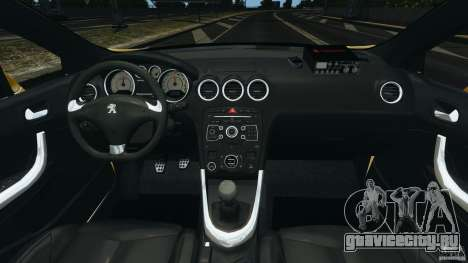 Peugeot 308 GTi 2011 Taxi v1.1 для GTA 4 вид сзади