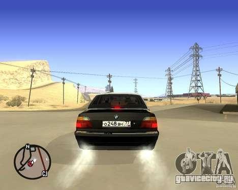 BMW 740il e38 для GTA San Andreas вид сзади слева