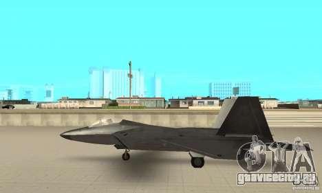 F-22 Black для GTA San Andreas вид сзади слева