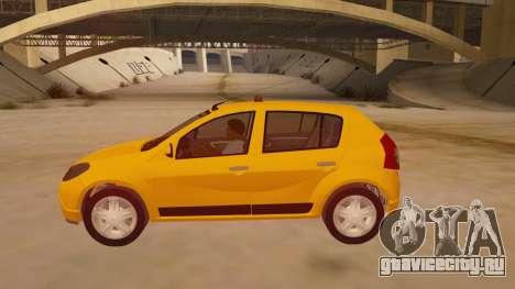 Renault Sandero Taxi для GTA San Andreas вид слева