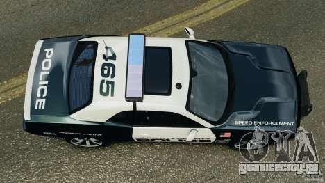 Dodge Challenger SRT8 392 2012 Police [ELS][EPM] для GTA 4 вид справа