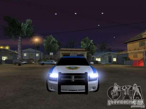 Dodge Charger Police для GTA San Andreas вид изнутри