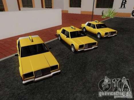 Greenwood Taxi для GTA San Andreas вид справа