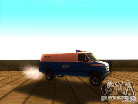 Chevrolet Van G20 BLUE NYPD 1990 для GTA San Andreas вид справа
