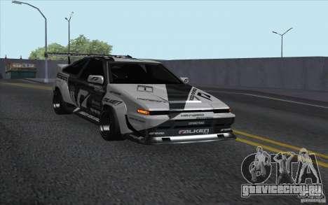 Toyota Corolla AE86 Shift 2 для GTA San Andreas вид сзади слева