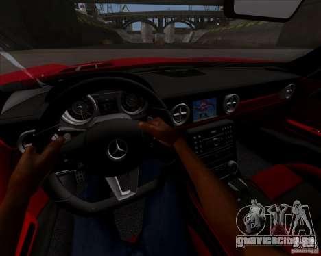 Mercedes-Benz SLS AMG V12 TT Black Revel для GTA San Andreas вид сзади
