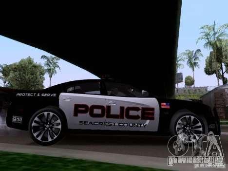 Dodge Charger SRT8 2011 V1.0 для GTA San Andreas вид сзади слева